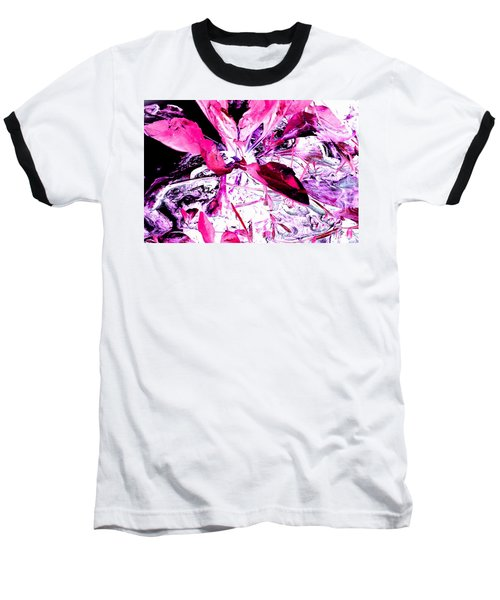 Pretty Pink Weeds 5 Baseball T-Shirt by Marianne Dow