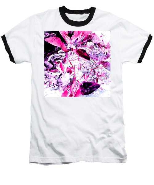 Pretty Pink Weeds 6 Baseball T-Shirt by Marianne Dow