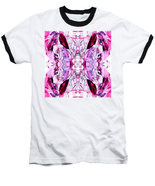 Pretty Pink Weeds Abstract  2 Baseball T-Shirt