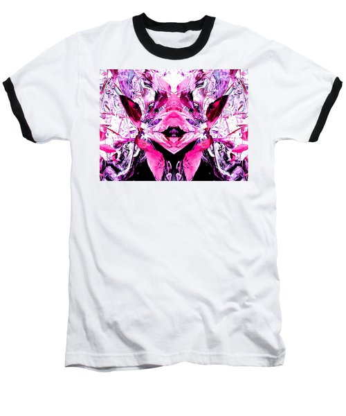 Pretty Pink Weeds Abstract  5 Baseball T-Shirt