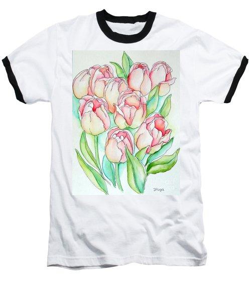 Pretty Tulips Baseball T-Shirt