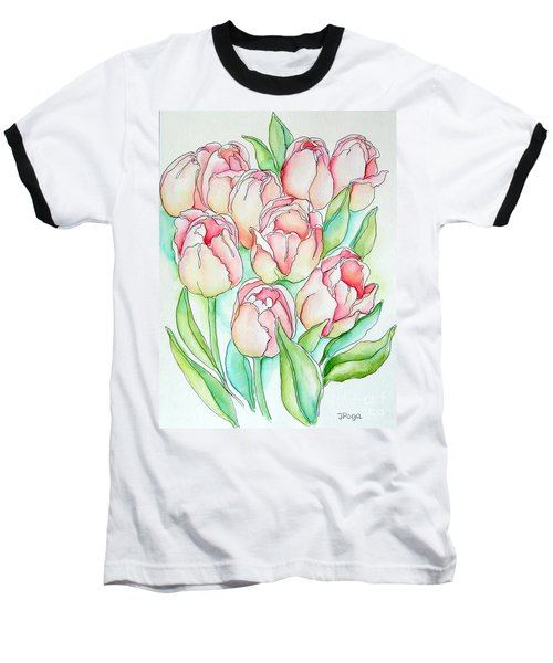Pretty Tulips Baseball T-Shirt