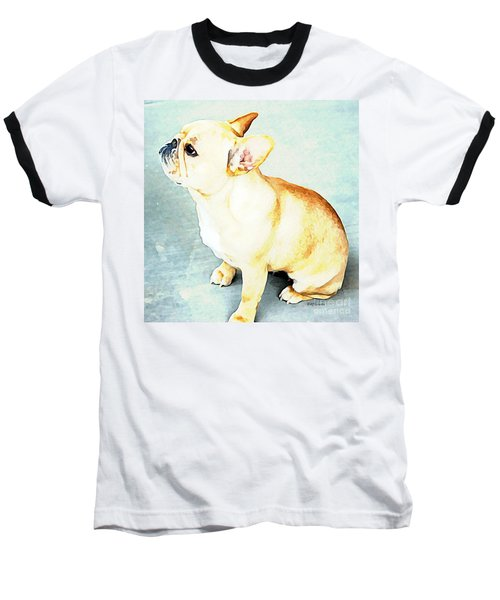 Profile In Frenchie Baseball T-Shirt