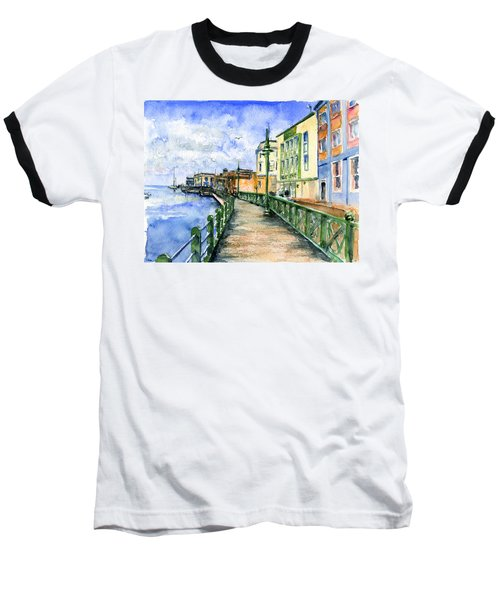 Promenade In Barbados Baseball T-Shirt by John D Benson