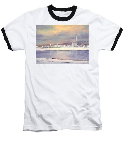 Baseball T-Shirt featuring the painting Provincetown Evening Lights by Bill Holkham