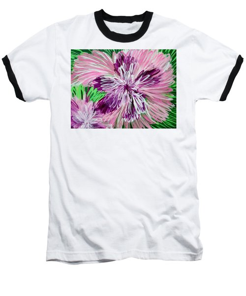 Psychedelic Flower Baseball T-Shirt