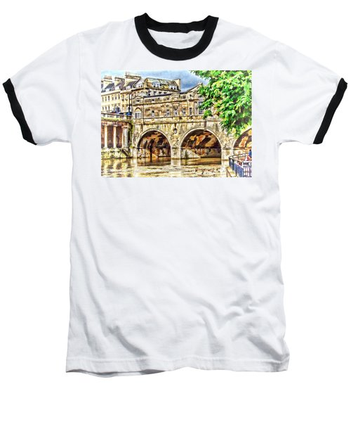 Pulteney Bridge Bath Baseball T-Shirt