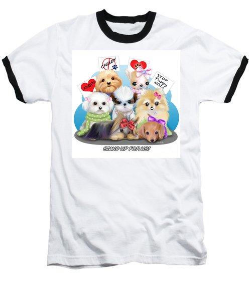 Puppies Manifesto Baseball T-Shirt by Catia Cho