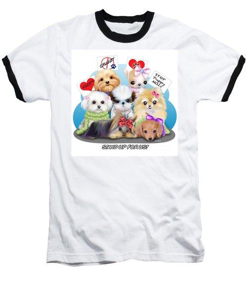 Puppies Manifesto Baseball T-Shirt