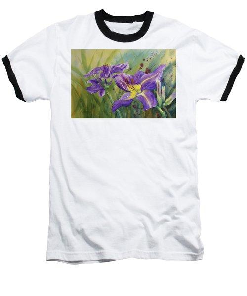 Purple Day Lily Baseball T-Shirt