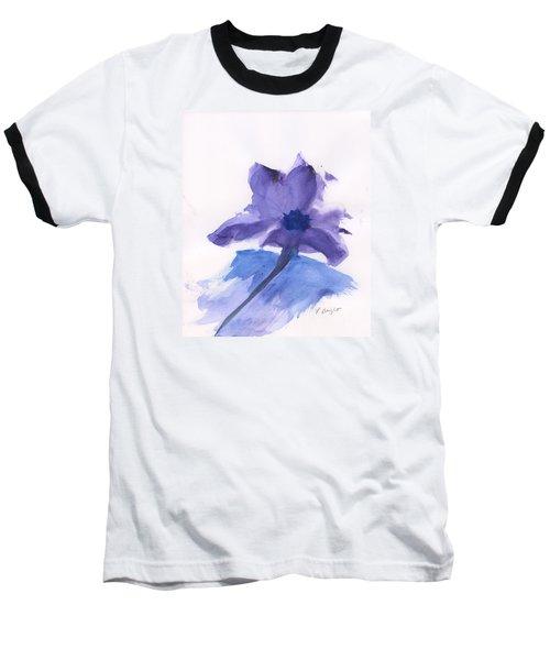 Purple Flower Baseball T-Shirt by Frank Bright