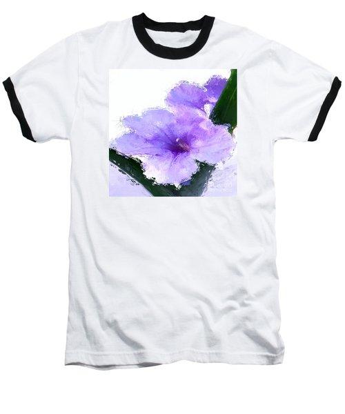Baseball T-Shirt featuring the digital art Purple Petunia by Anthony Fishburne