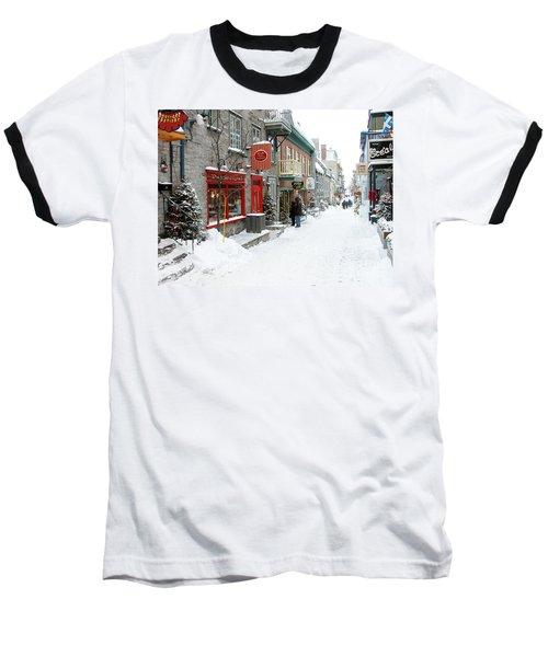 Quebec City In Winter Baseball T-Shirt