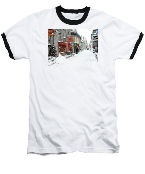 Quebec City In Winter Baseball T-Shirt