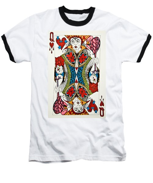 Queen Of Hearts - Wip Baseball T-Shirt
