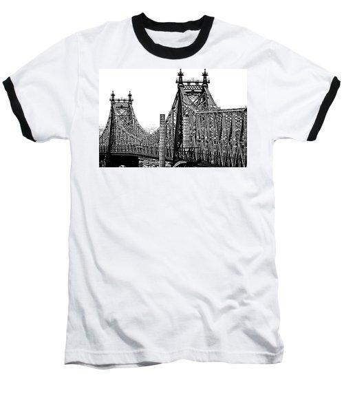 Queensborough Or 59th Street Bridge Baseball T-Shirt by Steve Archbold