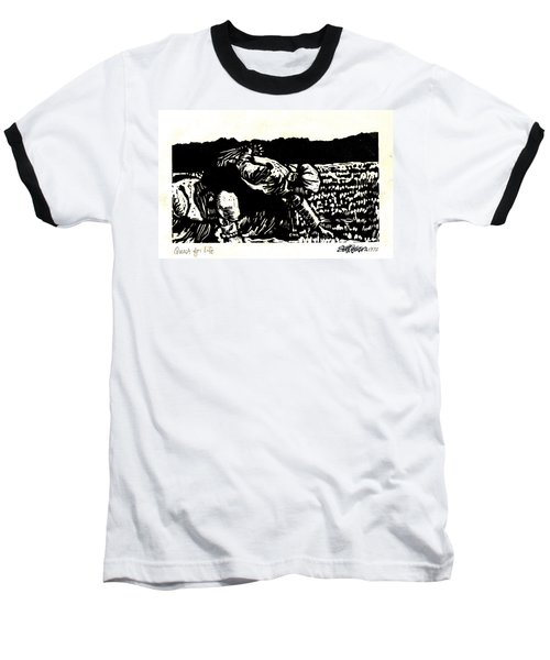 Baseball T-Shirt featuring the relief Quest For Life by Seth Weaver