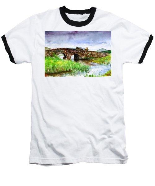 Quiet Man Bridge Ireland Baseball T-Shirt by John D Benson