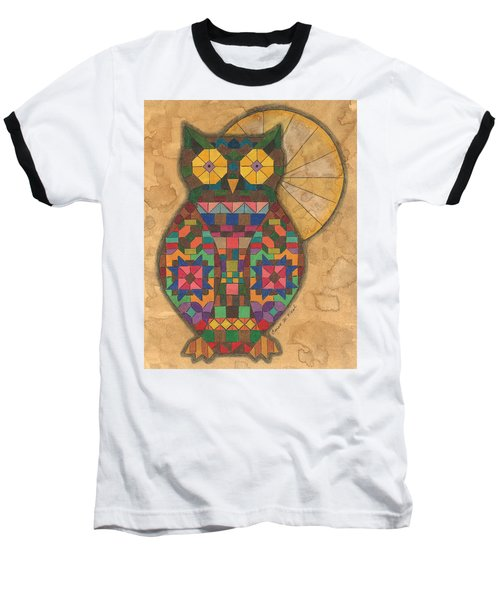 Quilted Owl Baseball T-Shirt