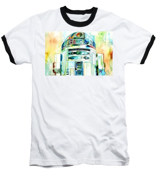 R2-d2 Watercolor Portrait Baseball T-Shirt