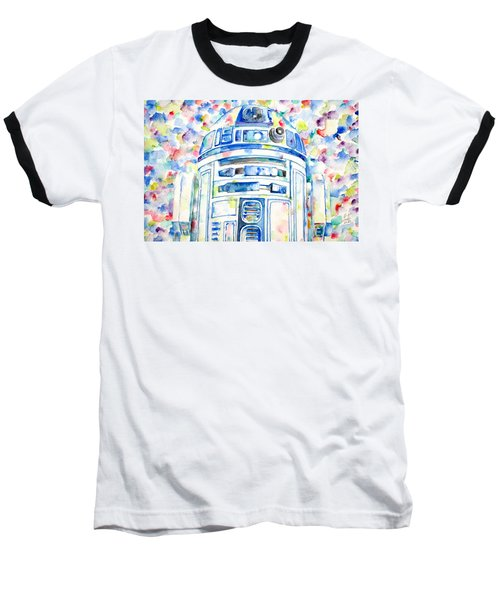 R2-d2 Watercolor Portrait.1 Baseball T-Shirt