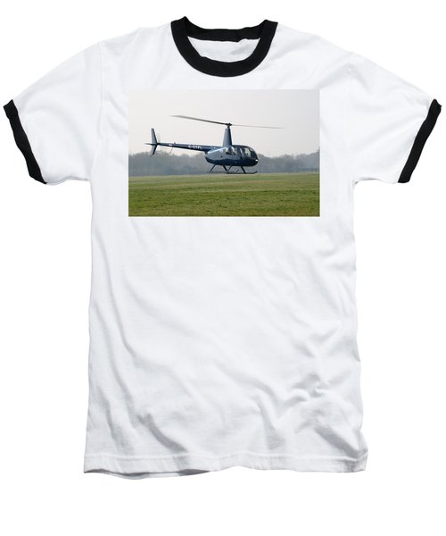 R44 Raven Helicopter Baseball T-Shirt