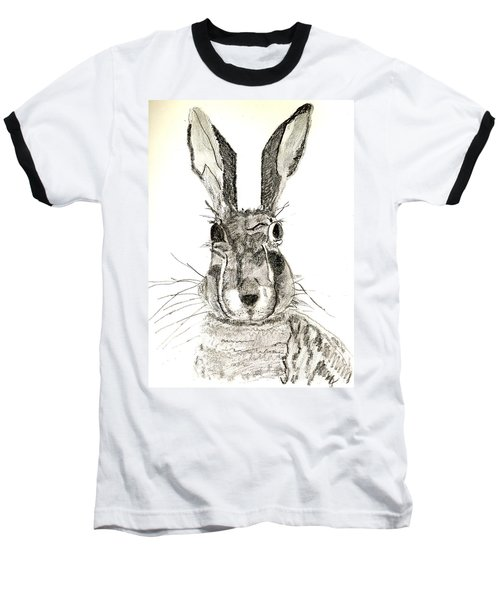 Rabbit Baseball T-Shirt by Sandy McIntire