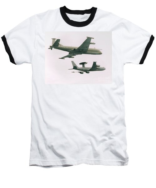 Baseball T-Shirt featuring the photograph Raf Nimrod And Awac Aircraft by Paul Fearn