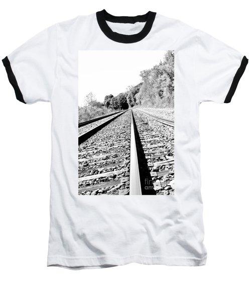 Baseball T-Shirt featuring the photograph Railroad Track by Joe  Ng