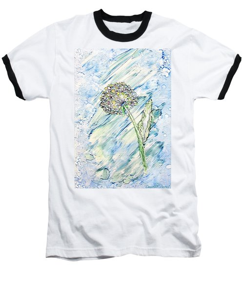 Rainbow And Blue Dandelion Alcohol Inks  Baseball T-Shirt
