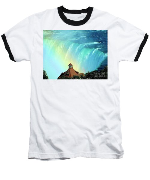 Baseball T-Shirt featuring the photograph Rainbow Over Horseshoe Falls by Janette Boyd