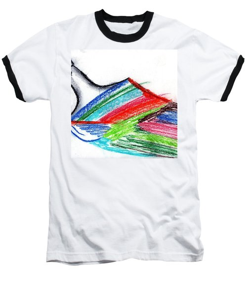 Rainbow Paintbrush Baseball T-Shirt