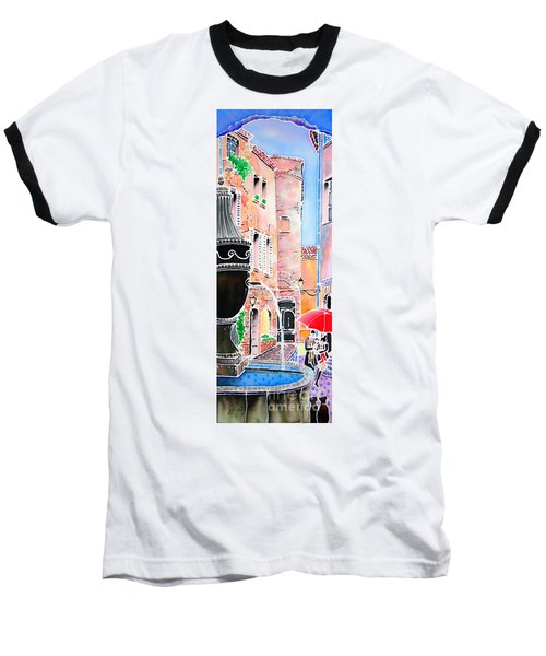 Baseball T-Shirt featuring the painting Raining In St-paul De Vence by Hisayo Ohta
