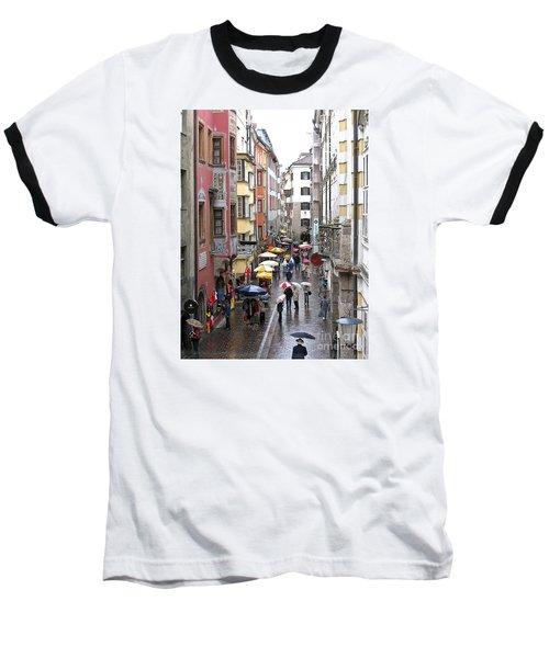 Rainy Day Shopping Baseball T-Shirt