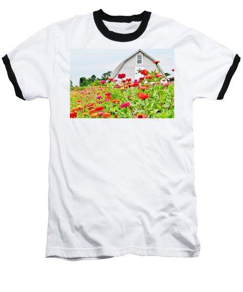 Raising Zinnia Flowers - Delaware Baseball T-Shirt