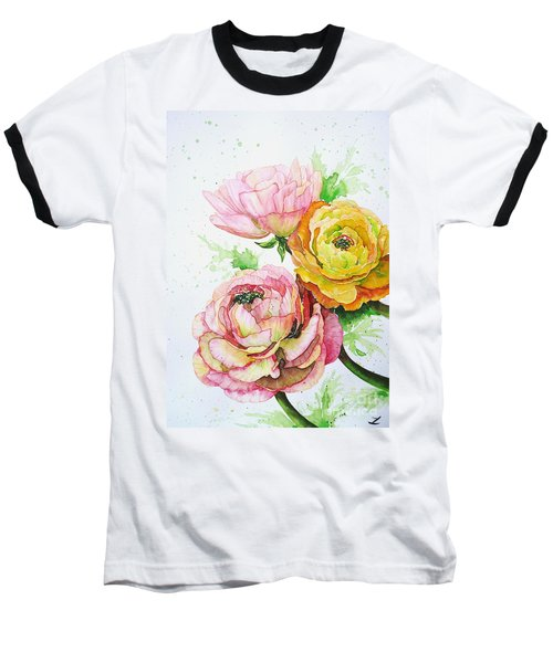 Ranunculus Flowers Baseball T-Shirt