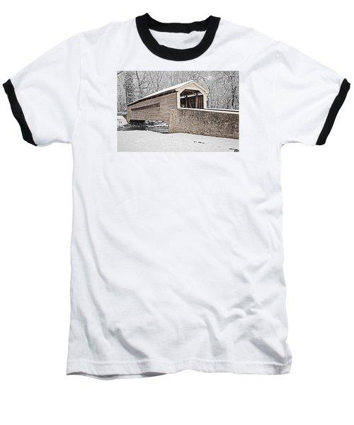 Rapps Bridge In Winter Baseball T-Shirt