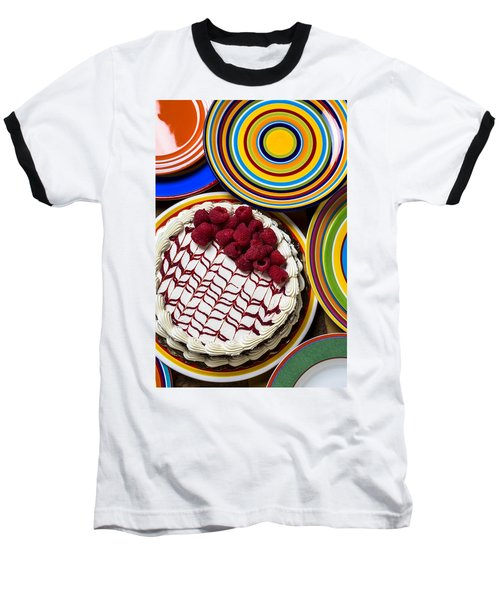 Raspberry Cake Baseball T-Shirt