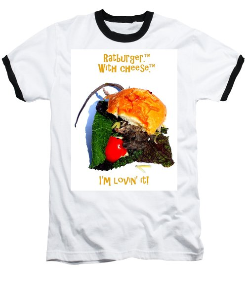 Ratburger With Cheese Baseball T-Shirt