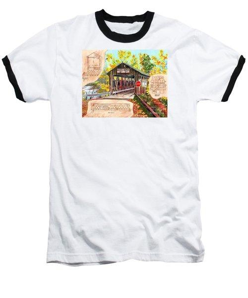 Rebuild The Bridge Baseball T-Shirt by LeAnne Sowa