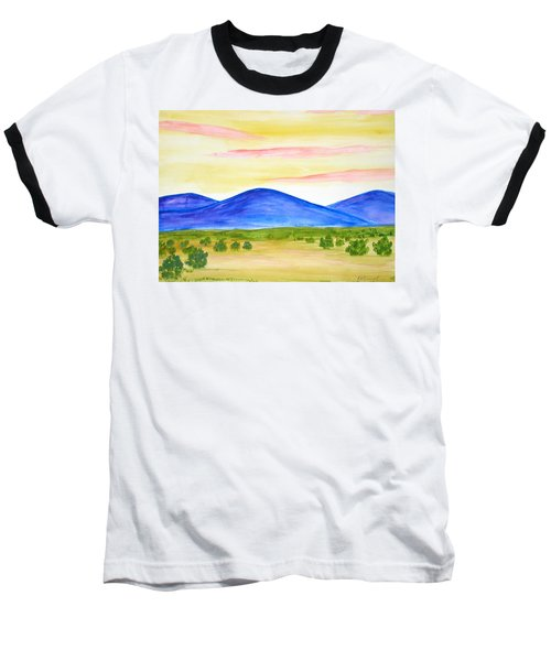 Red Clouds Over Mountains Baseball T-Shirt
