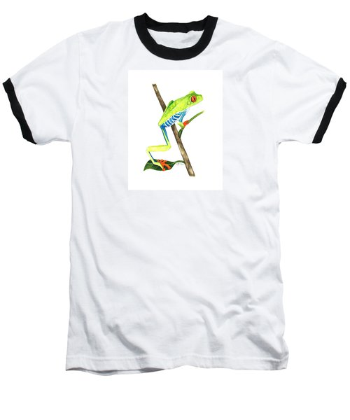 Red-eyed Treefrog From La Selva Baseball T-Shirt