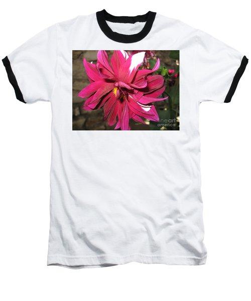 Red Flower In Bloom Baseball T-Shirt by HEVi FineArt