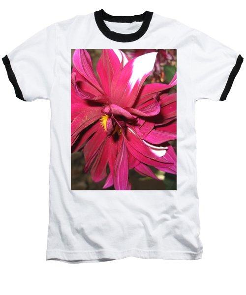 Red Flower In Bloom Baseball T-Shirt