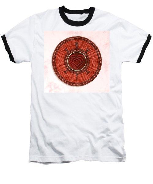 Red Heart Turtle Baseball T-Shirt