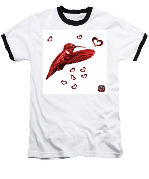 Red Hummingbird - 2055 F S M Baseball T-Shirt by James Ahn