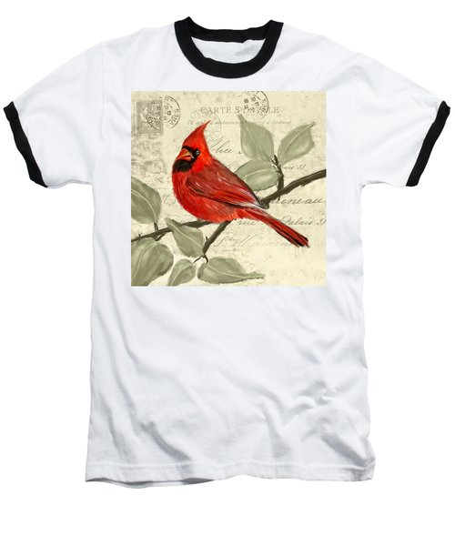 Red Melody Baseball T-Shirt