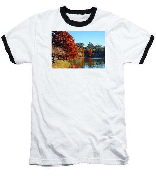 Red Pine On Lake Ella Baseball T-Shirt