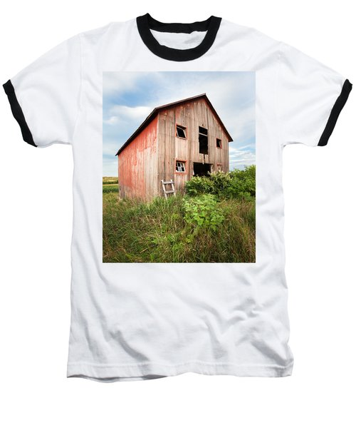Baseball T-Shirt featuring the photograph Red Shack On Tucker Rd - Vertical Composition by Gary Heller