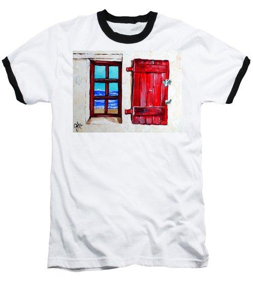 Red Shutter Ocean Baseball T-Shirt